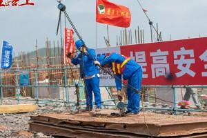 信丰发电1号机组锅炉钢结构顺利开吊!