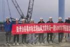 粤水电北塔山风力发电场首台风机吊装成功