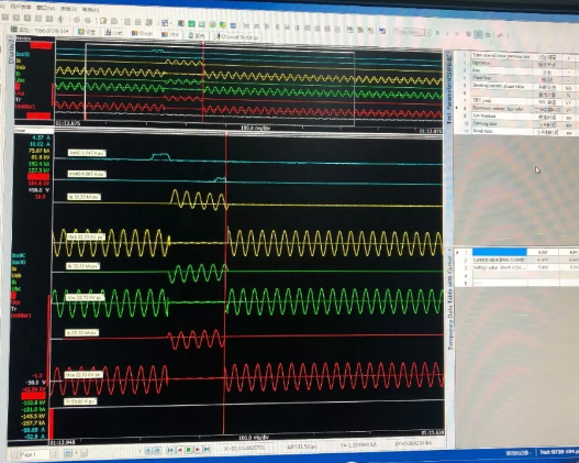 电气实验室顺利进行发电机系统短路调试