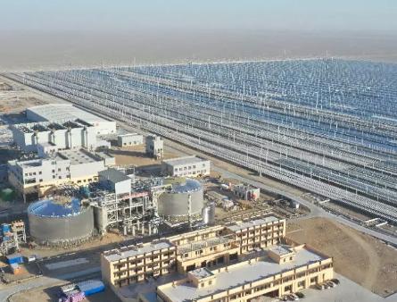 中南院EPC的世界首座熔盐菲涅尔光热发电项目成功并网发电