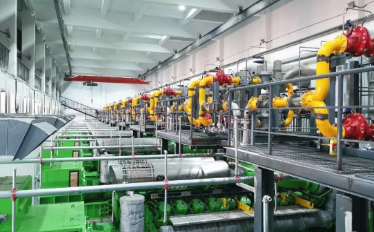 杰瑞为山西瓦斯气分布式能源发电项目提供的发电机组顺利投产