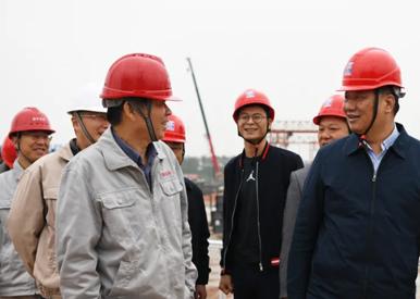 钟旭辉现场调研推进信丰电厂项目建设工作